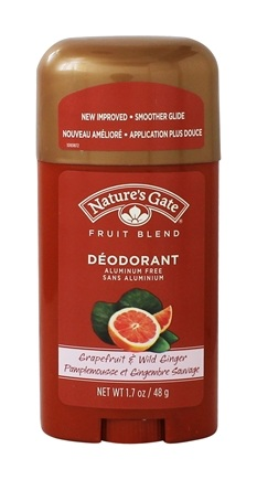 Nature's Gate - Deodorant Stick Fruit Blend Grapefruit & Wild Ginger - 1.7 oz.