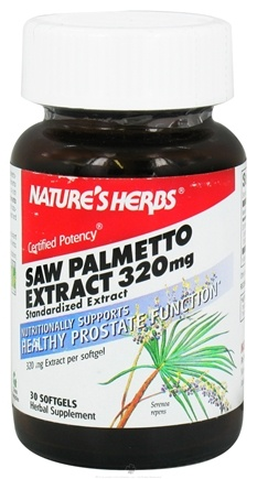 DROPPED: Nature's Herbs - Saw Palmetto Power 320 mg. - 30 Softgels CLEARANCE PRICED