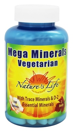 Nature's Life - Vegetarian Mega Minerals - 100 Tablets