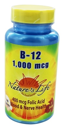 Nature's Life - Vitamin B-12 1000 mcg. - 100 Tablets
