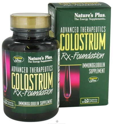 DROPPED: Nature's Plus - Colostrum Rx Foundation - 60 Capsules
