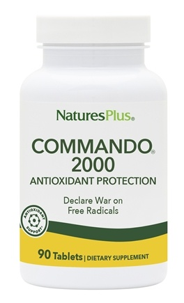 Nature's Plus - Commando 2000 Anti-Oxidant Protection - 90 Tablets