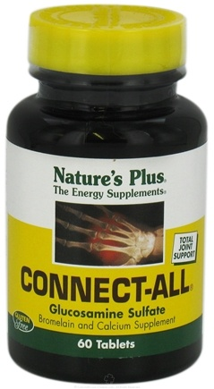 DROPPED: Nature's Plus - Connect-All Support for Connective Tissues - 60 Tablets CLEARANCE PRICED