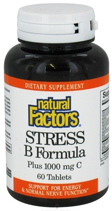 DROPPED: Natural Factors - Stress B Formula Plus 1000 mg Vitamin C - 60 Tablets CLEARANCE PRICED