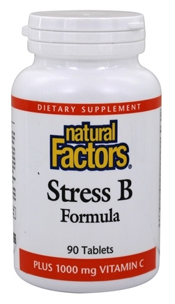 Natural Factors - Stress B Formula Plus 1000 mg Vitamin C - 90 Tablets