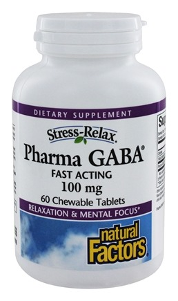 Natural Factors - Stress-Relax Pharma GABA Fast Acting - 60 Chewable Tablets