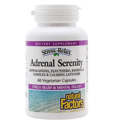 Natural Factors - Stress-Relax Serenity Formula with Sensoril - 60 Capsules