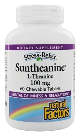Natural Factors - Stress-Relax Suntheanine L-Theanine - 60 Chewable Tablets