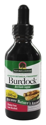Nature's Answer - Burdock Root Organic Alcohol - 2 oz.