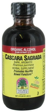 DROPPED: Nature's Answer - Cascara Sagrada Bark Organic Alcohol - 3 oz. CLEARANCE PRICED