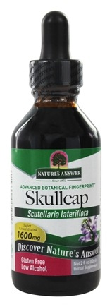 Nature's Answer - Skullcap Herb Organic Alcohol - 2 oz.