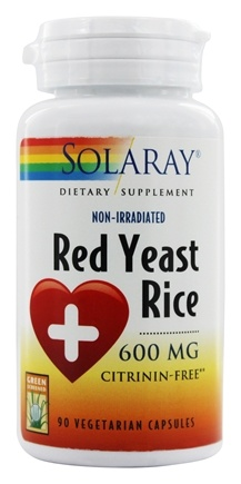 Solaray - Red Yeast Rice 600 mg. - 90 Vegetarian Capsules