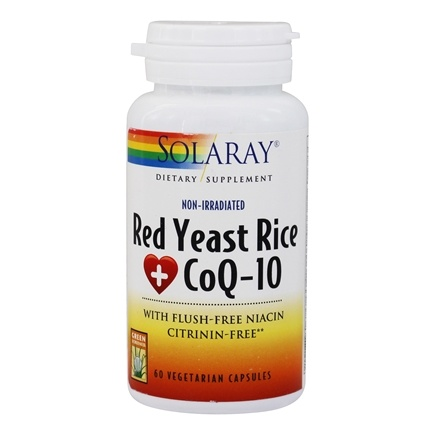 Solaray - Red Yeast Rice Plus CoQ-10 - 60 Vegetarian Capsules