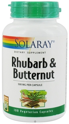 DROPPED: Solaray - Rhubarb & Butternut 500 mg. - 100 Vegetarian Capsules