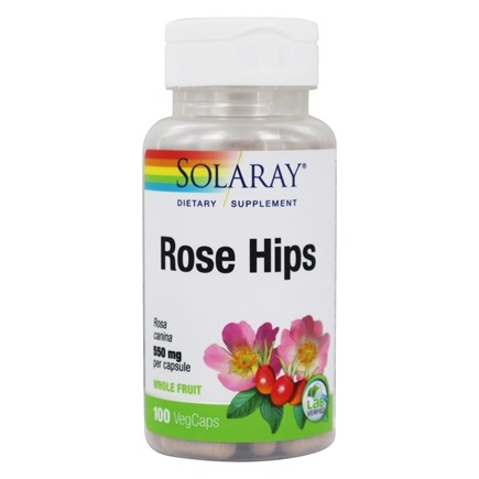 Solaray - Rose Hips 550 mg. - 100 Capsules