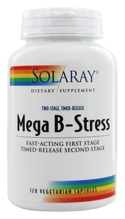 Solaray - Mega B-Stress Two-Stage Timed-Release - 120 Vegetarian Capsules