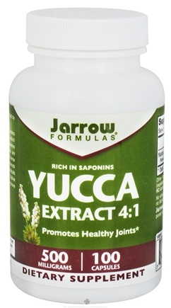 DROPPED: Jarrow Formulas - Yucca 4:1 Extract 500 mg. - 100 Capsules CLEARANCE PRICED