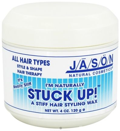 DROPPED: Jason Natural Products - Stuck Up Hair Styling Hair Wax - 4 oz. CLEARANCE PRICED