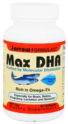 DROPPED: Jarrow Formulas - Max-DHA 607 mg. - 90 Softgels CLEARANCE PRICED