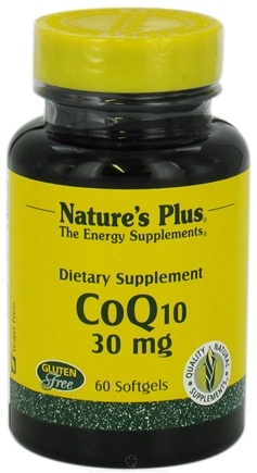 DROPPED: Nature's Plus - CoQ10 mg. - 60 Softgels CLEARANCE PRICED