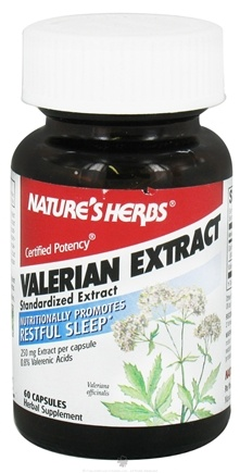 DROPPED: Nature's Herbs - Valerian - 60 Capsules CLEARANCE PRICED