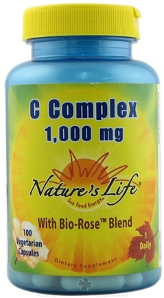 DROPPED: Nature's Life - Vitamin C Complex 1000 mg. - 100 Vegetarian Capsules CLEARANCE PRICED