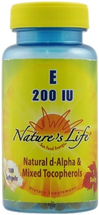 DROPPED: Nature's Life - Vitamin E 200 IU - 100 Softgels
