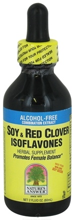 DROPPED: Nature's Answer - Soy & Red Clover Isoflavones Alcohol Free - 2 oz. CLEARANCE PRICED