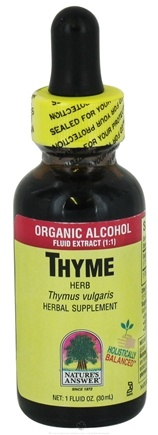 DROPPED: Nature's Answer - Thyme Herb Organic Alcohol - 1 oz. CLEARANCED PRICED