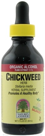 DROPPED: Nature's Answer - Chickweed Herb Organic Alcohol - 2 oz.