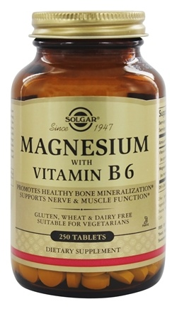 Solgar - Magnesium With Vitamin B-6 - 250 Tablets