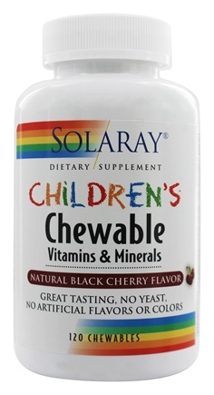 Solaray - Children's Chewable Vitamins & Minerals Natural Black Cherry Flavor - 120 Chewable Wafers