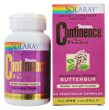 Solaray - Continence With Flowtrol Guaranteed Potency Butterbur - 60 Capsules