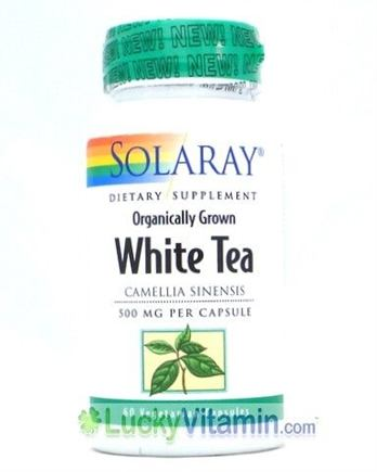 DROPPED: Solaray - White Tea 500 mg. - 60 Vegetarian Capsules