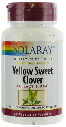 DROPPED: Solaray - Yellow Sweet Clover - 60 Vegetarian Capsules