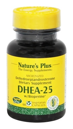 Nature's Plus - DHEA-25 with Bioperine 5 mg. - 60 Vegetarian Capsules