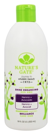 Nature's Gate - Vegan Shampoo Shine Enhancing Henna + Avocado - 18 oz.