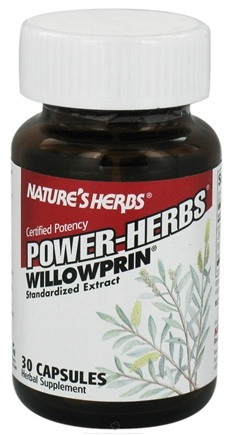 DROPPED: Nature's Herbs - Willowprin - 30 Capsules CLEARANCE PRICED