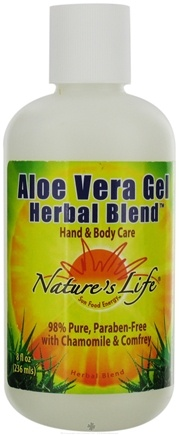 DROPPED: Nature's Life - Aloe Vera Gel Herbal Blend With Chamomile & Comfrey - 8 oz. CLEARANCE PRICED