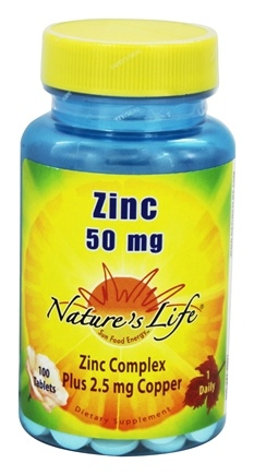 Nature's Life - Zinc 50 mg. - 100 Tablets
