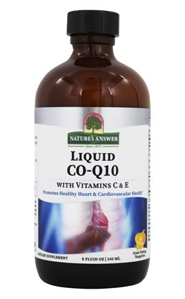Nature's Answer - Co-Q10 Liquid With Vitamins C & E - 8 oz.