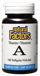 DROPPED: Natural Factors - Vitamin A 10000 IU - 180 Softgels
