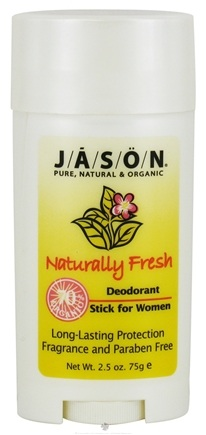 DROPPED: Jason Natural Products - Deodorant Stick For Women Naturally Fresh - 2.5 oz. CLEARANCE PRICED