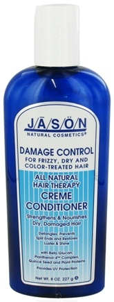 DROPPED: Jason Natural Products - Damage Control Creme Conditioner For Frizzy, Dry or Color-Treated Hair - 8 oz.