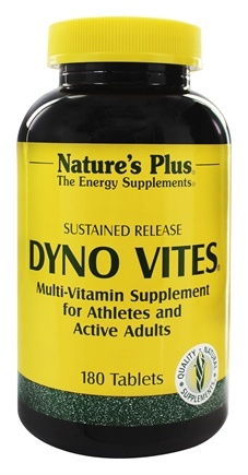 DROPPED: Nature's Plus - Dyno Vites Sustained Release - 180 Tablets