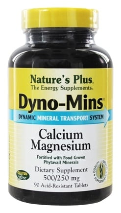 Nature's Plus - Dyno-Mins Cal/Mag 500/250 - 90 Tablets