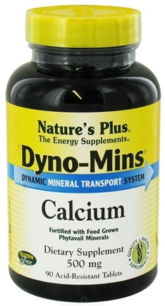 DROPPED: Nature's Plus - Dyno-Mins Calcium 500 mg. - 90 Tablets