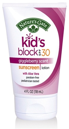 DROPPED: Nature's Gate - Sunscreen Lotion Kid's Block with Aloe Vera Giggleberry 30 SPF - 4 oz. CLEARANCE PRICED