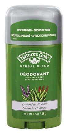 Nature's Gate - Deodorant Stick Herbal Blend Aluminum Free Lavender & Aloe - 1.7 oz.