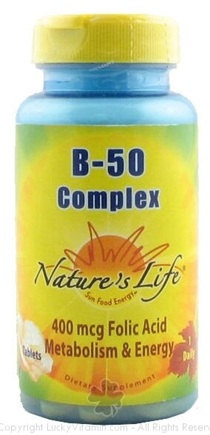 DROPPED: Nature's Life - B-50 Complex 400 mcg. - 50 Tablets